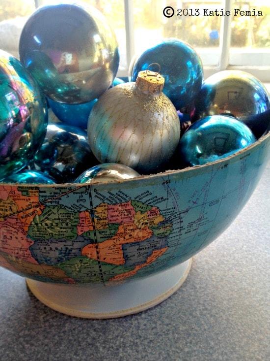 Miska z globusa