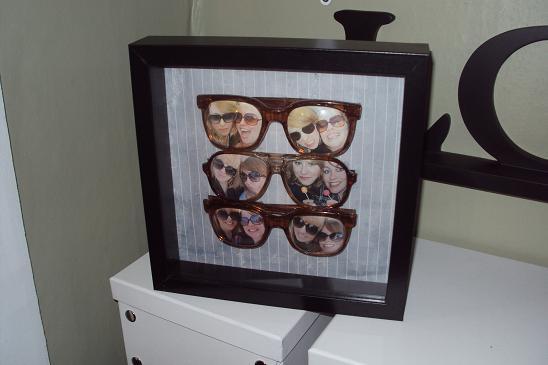 Oryginalna ramka na zdjęcia z okularów